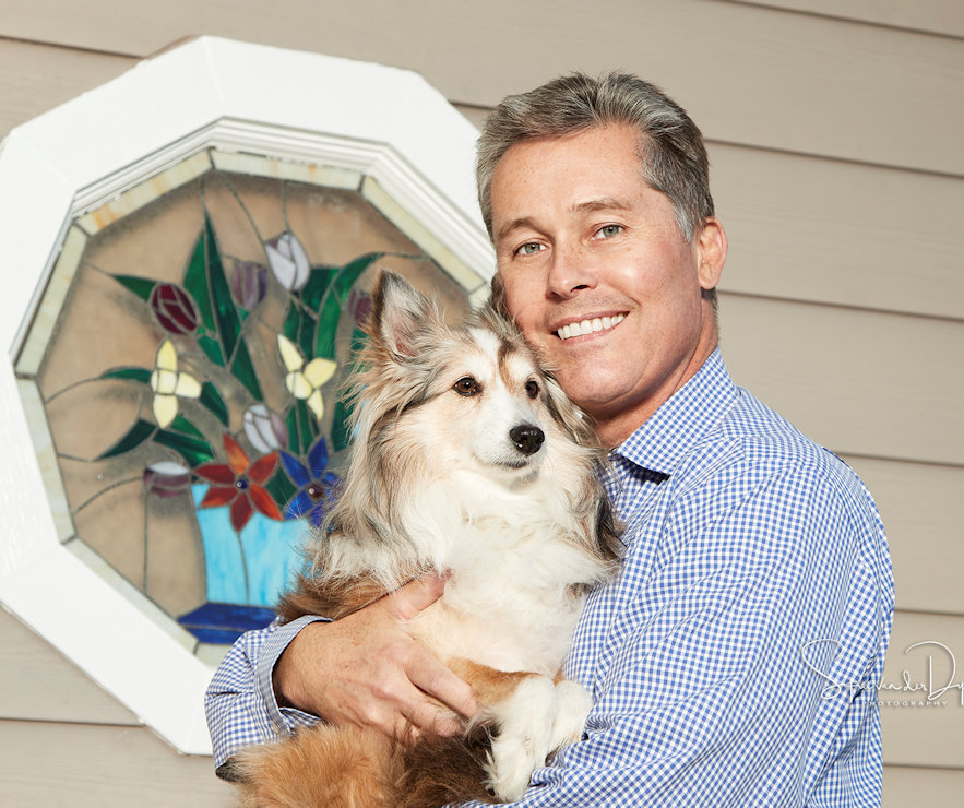 Bob Nowak with his dog Polo